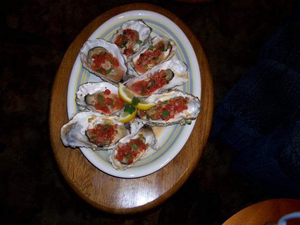 Beviers BBQ Oysters With Habanero Salsa