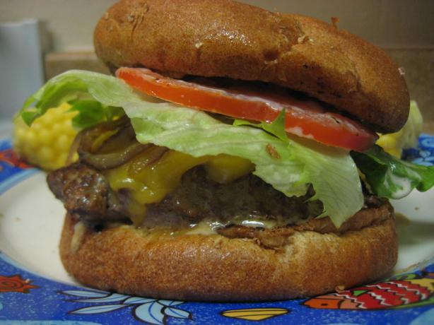 Old School Meets New -- Cheesy, Onion, Spicy, BBQ Burger
