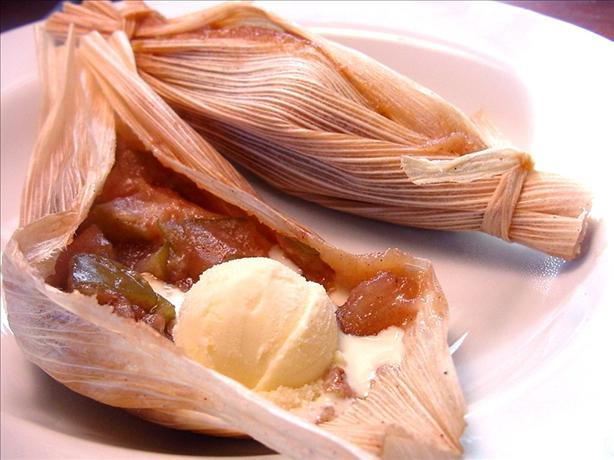 Sweet Apple Dessert Tamales