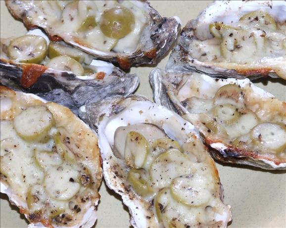 BBQ Oysters and Olives
