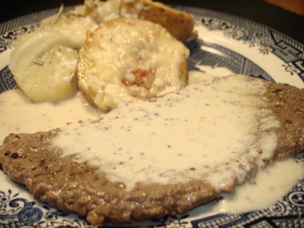 Swedish Minute Steaks With Mustard Sauce