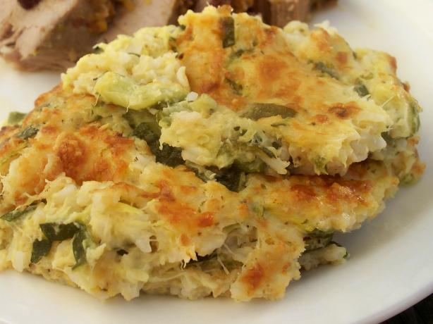 Zucchini Squash-Rice Casserole