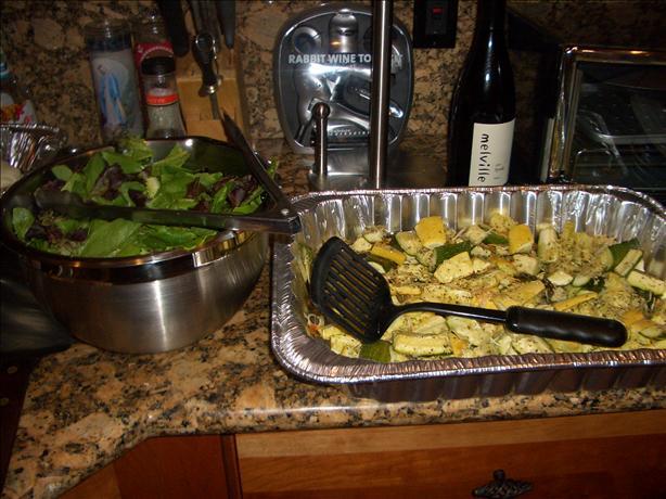 Zucchini and Squash Parmesan