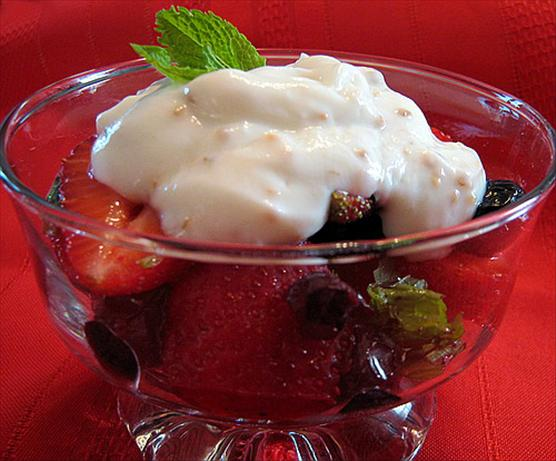 Berries Salad With Whipped Ricotta Cream