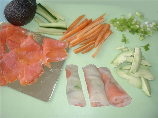 Smoked Salmon & Rice Paper Rolls