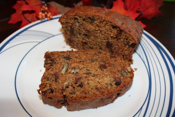 Chocolate Chip and Pecan Zucchini Loaf