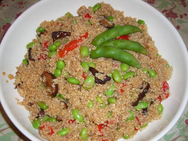Edamame, Quinoa, and Shiitake Mushroom Salad