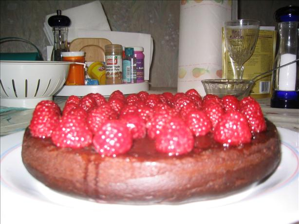 Ritner Family Mayonnaise Cake With Raspberries