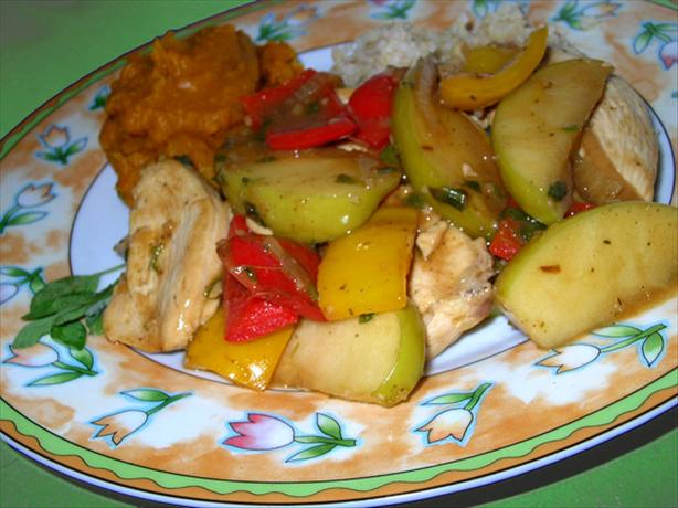 Chicken with Apples and Sage