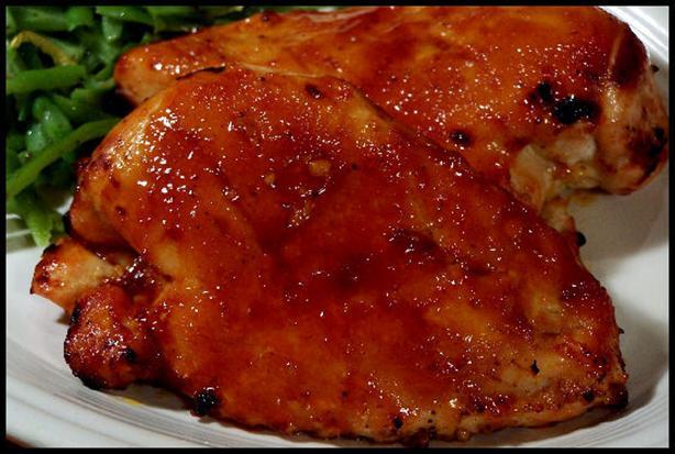 Oven Glazed Caribbean Chicken
