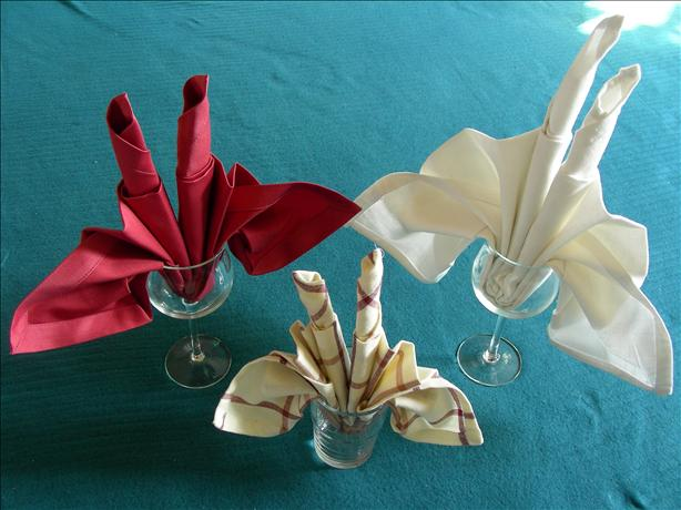 Serviette/Napkin Folding, Candle Fan Fold