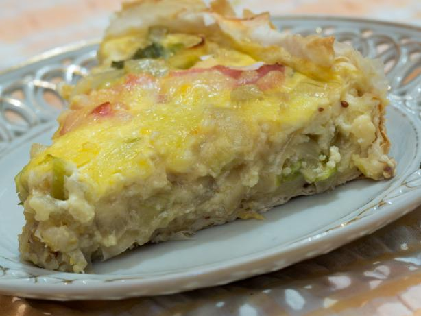 Canadian Bacon and Onion Tart