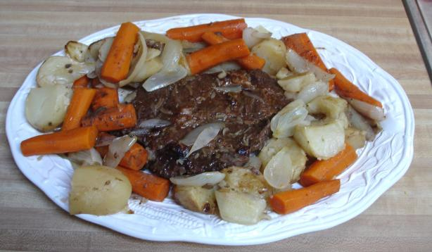 Oven Pot Roast With Carrots and Potatoes