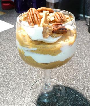 Pumpkin Pudding Parfaits