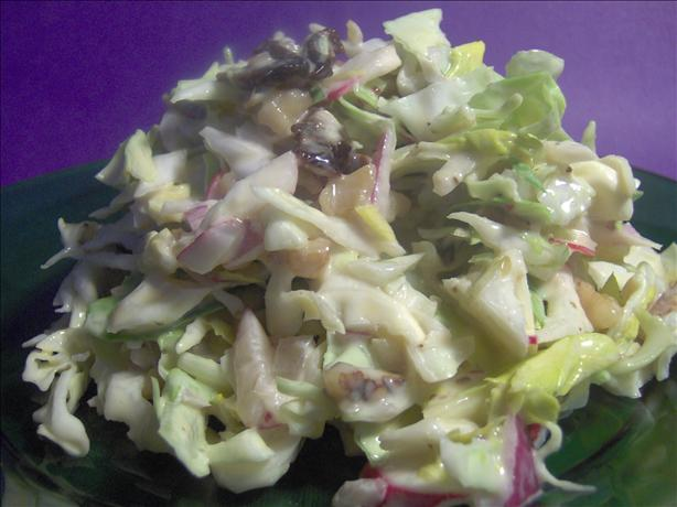 Cranberry-Walnut Cabbage Coleslaw