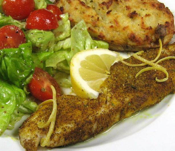 Baked Fish with Lemon & Black Pepper