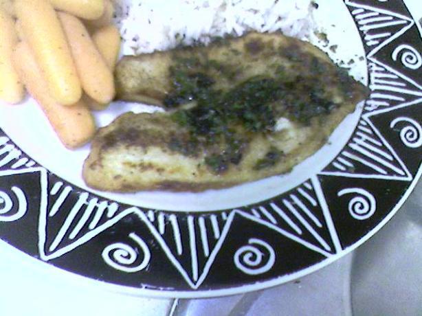 White Fish With Lemon and Fresh Herbs