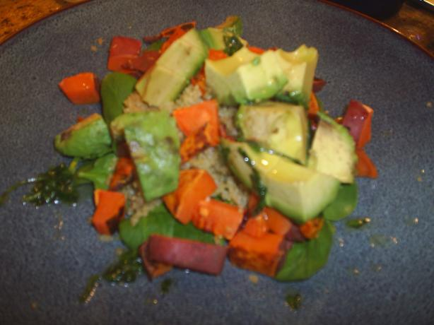 Quinoa Avocado and Sweet Potato