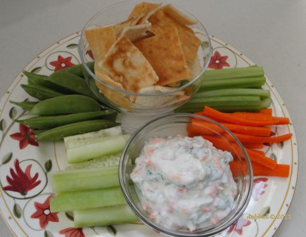 Herb and Vegie Yoghurt Dip