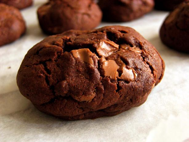 Chocolate Cookies With Chocolate Covered Raisins