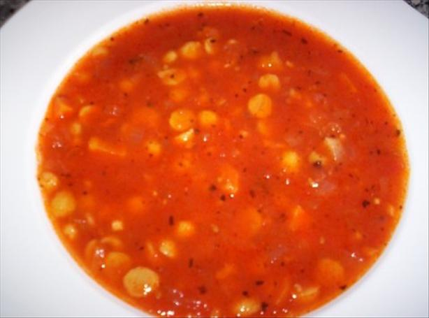 Herbed Tomato and Chickpea Soup