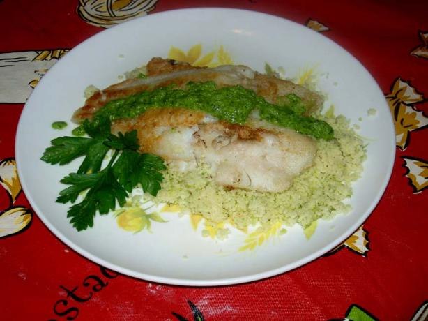 Flounder With Herbed Couscous