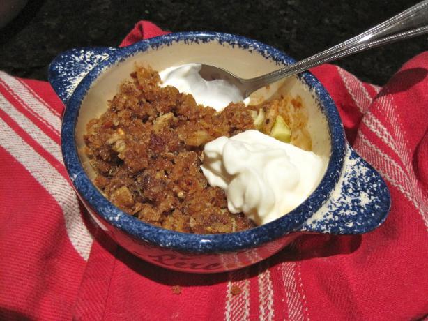Yogurt or Sour Cream Crumb Fruit Topping