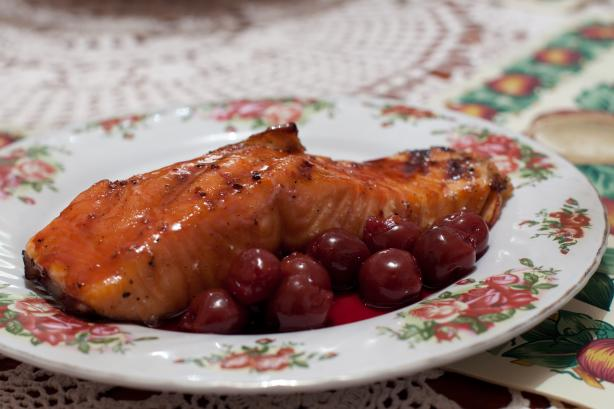 Maple Cherry Glazed Salmon
