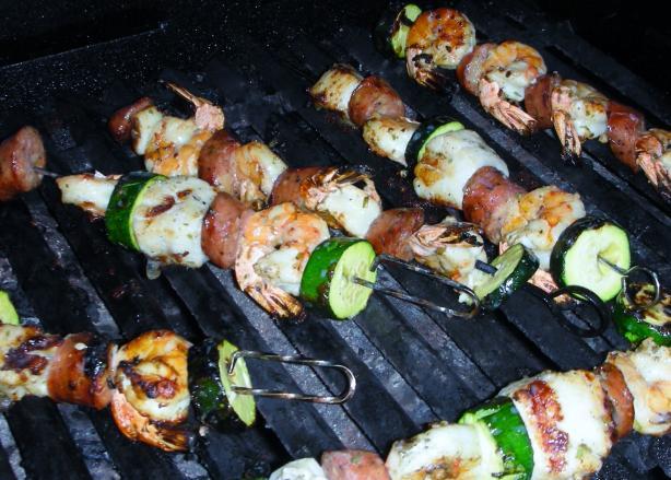 Seafood-Sausage Kabobs