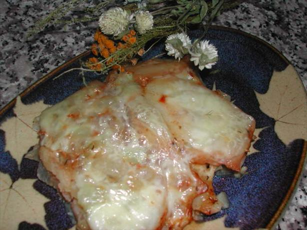 Red Potatoes Layered With Swiss Cheese