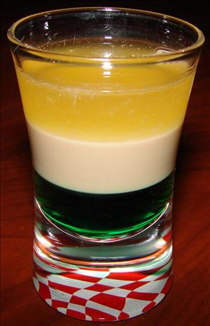 Irish Flag Layered Shot