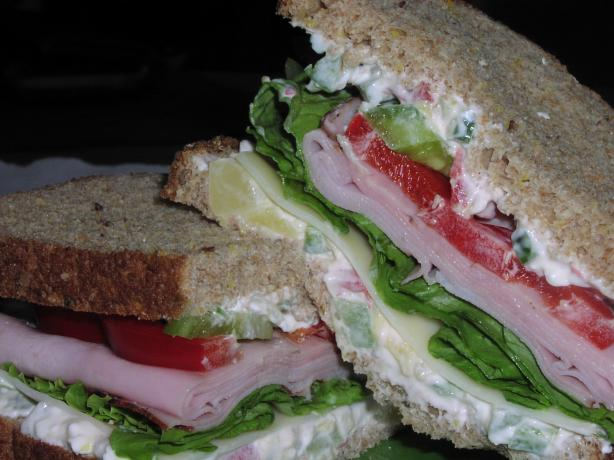 Hawaiian Ham and Swiss Sandwich