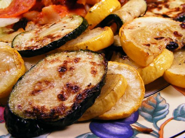 Marinated and Grilled Zucchini and Summer Squash
