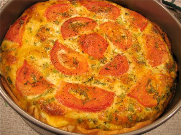 Crustless Zucchini and Tomato Quiche