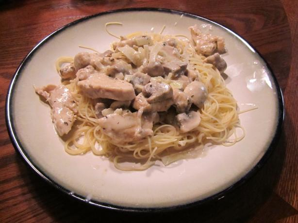 Chicken and Mushrooms in Sherry-Cream Sauce