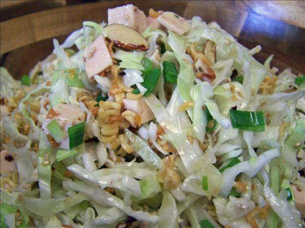Oriental Chicken Salad with Crunchy Ramen Noodles