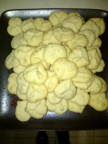 Lime Meltaway Spritz Cookies