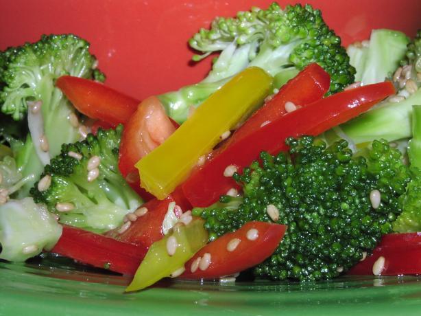 Sesame Honey Marinated Broccoli