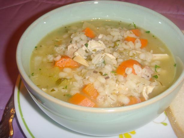 Scarborough Fair Chicken Barley Soup