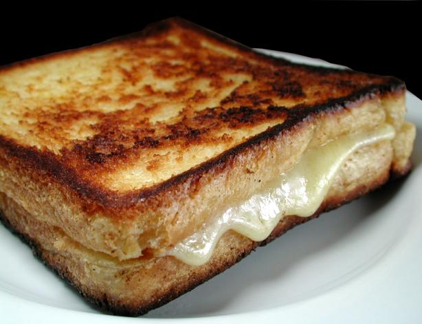 Lightly-Butter Fried Cheese Sandwich