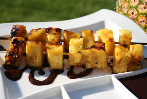Caramelized Pineapple With Hot Chocolate Sauce