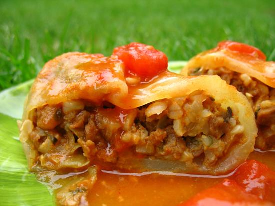 Vegetarian Polish Cabbage Rolls
