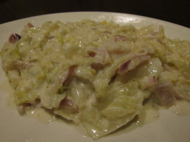 Creamed Cabbage With Red Onion