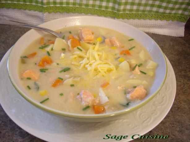 Healthy Salmon Corn Chowder
