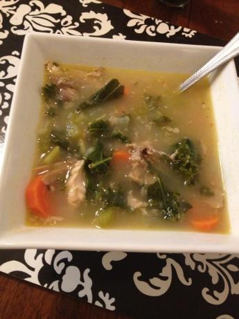 Lemon Chicken Soup With Quinoa