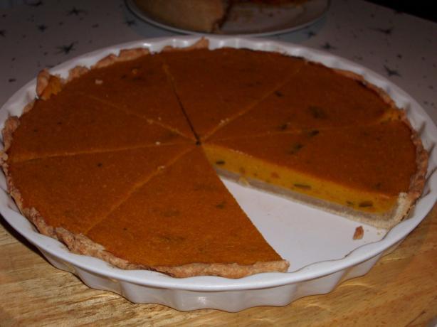 Golden Pumpkin Custard Pie