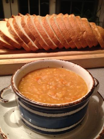 Yellow Split Pea Soup With Caramelized Onions