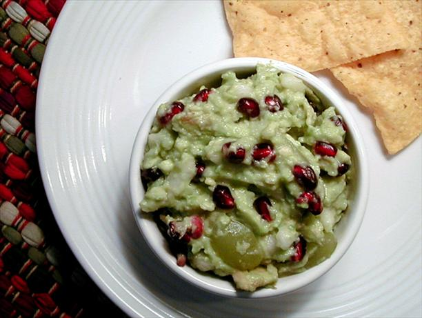 Inspired Avocado Guacamole W. Pomegranate & Pears