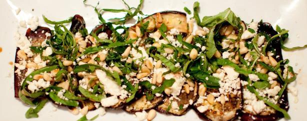 Grilled Eggplant & Feta Salad