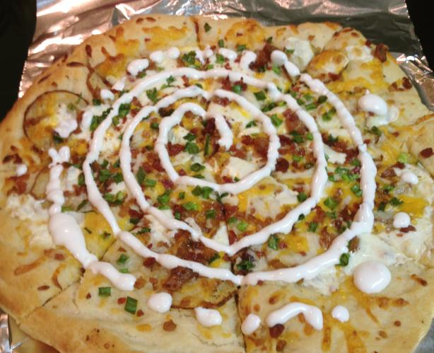 Loaded Potato Pizza